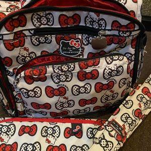Jujube hello kitty bff peek a bow diaper bag